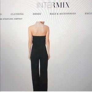 24233d22c10b INTERMIX Dresses - Saloni aurelie feather-trimmed cady jumpsuit